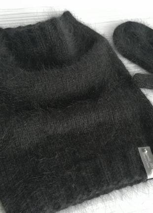 Снуд и рукавички из пуха норки