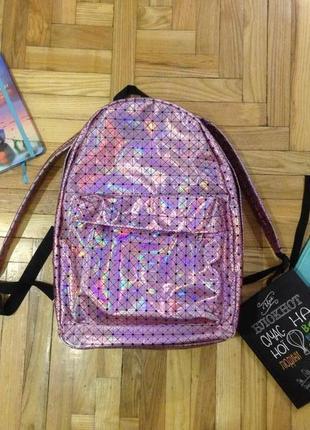 Стильный и модный голографический рюкзак