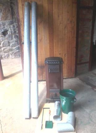 Печь твёрдотопливная чугунная Jre IRE 100, 10 кВт, импортная