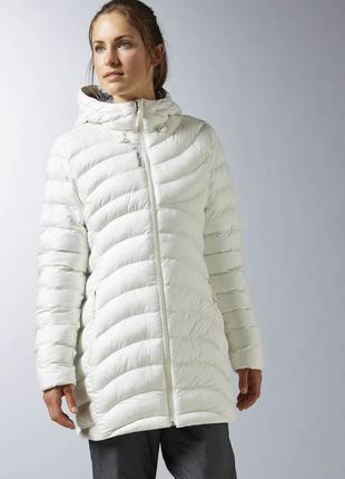 Куртка парка женская зимняя Reebok оригинал белая S 46 размер