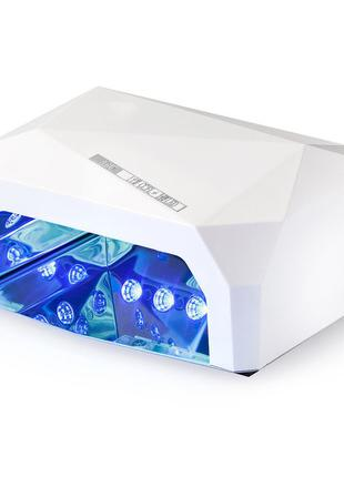 Гибридная CCFL+LED лампа 36W Quick CCFL LED Nail Lamp Белый
