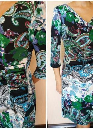 Яркое цветное платье р. 46-48 Almatrichi (Испания)