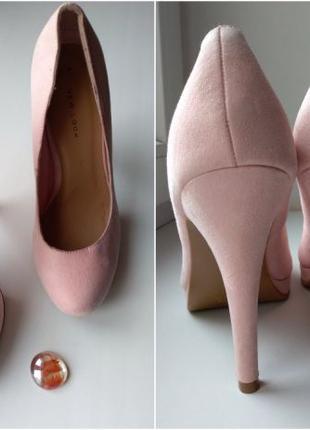 Женские туфли лодочки нежного цвета пудры 5\38 New look