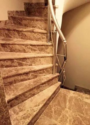 Лестница мраморная ступени мраморные бюджетная цена!