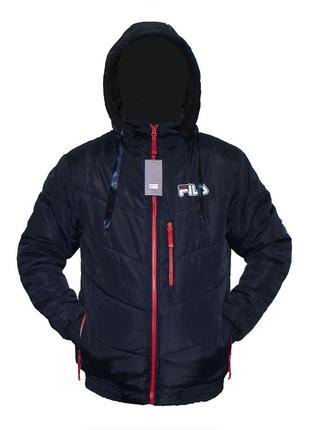 Зимняя мужская куртка на овчине и синтепоне на меху 50-58рр те...