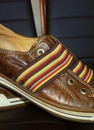 Туфли спортивный стиль натуральная кожа  gabor