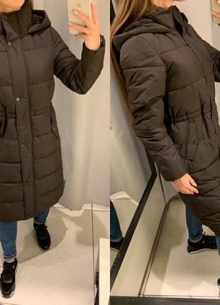 Длинная коричневая куртка пальто куртка reserved есть размеры