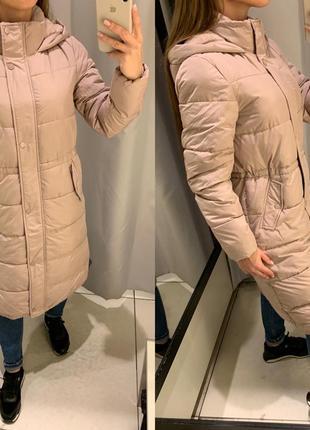 Длинная пудровая куртка еврозима курточка reserved есть размеры