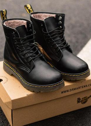 Мужские зимние кожаные ботинки/ сапоги/ угги dr. martens 1460 ...