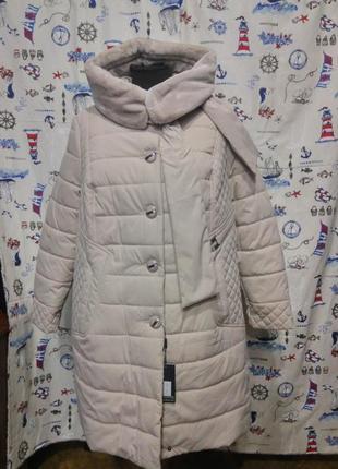 Красивое зимнее пальто пуховик