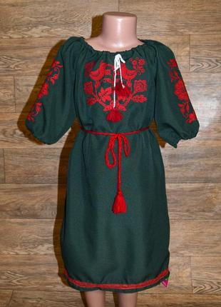 Вишиванка,платье-вышиванка для девочки 7-9 лет