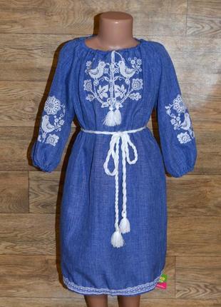 Вишиванка, платье-вышиванка для девочки 7-9 лет