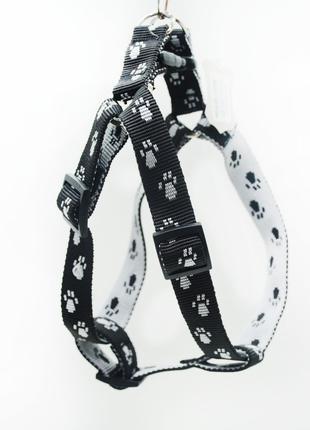 Шлейка для собак капроновая Лапки для декоративных собак
