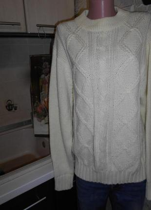 #ten#теплый свитер слоновая кость #джемпер косы #