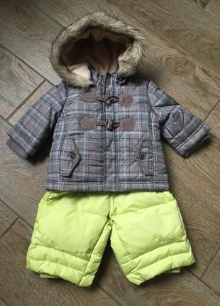 Комбинезон куртка chicco комбез 3месяца. зима пух, перо