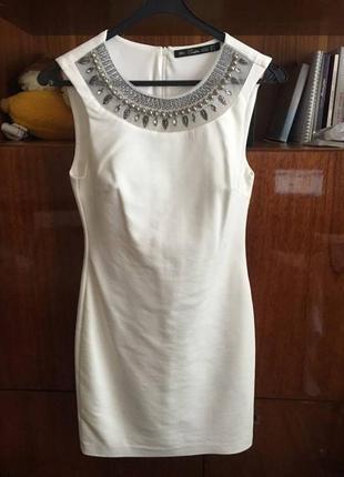 Платье белое zara новый год нарядное