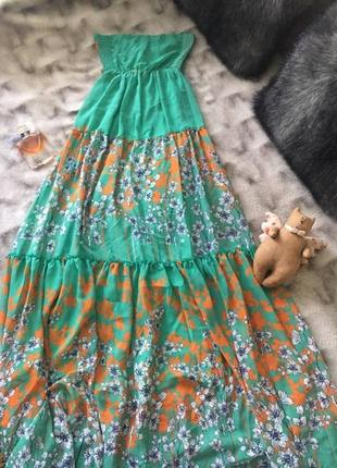 Длинный роскошный сарафан платье макси открытая спинка polo ga...