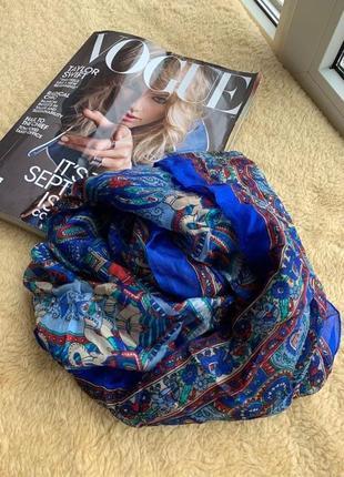 Красивый шелковый индийский шарф платок 100% шелк