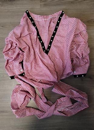 Шикарная рубашка свободного кроя на завязках