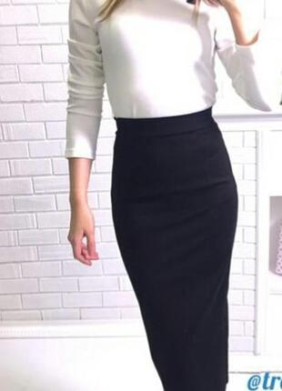 Стильный костюм с юбкой миди
