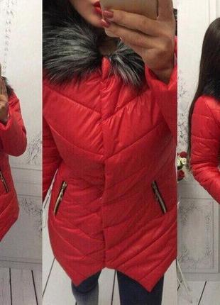 Куртка с мехом и заострённым низом