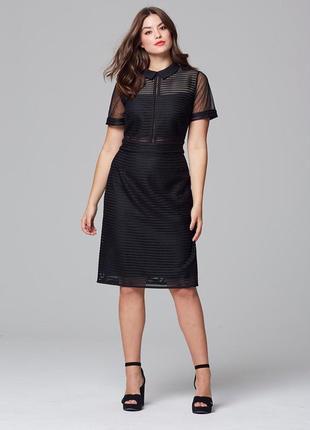 Элегантное формальное платье сетка 50-52 англия