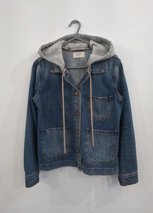 Джинсовая куртка с капюшоном hush