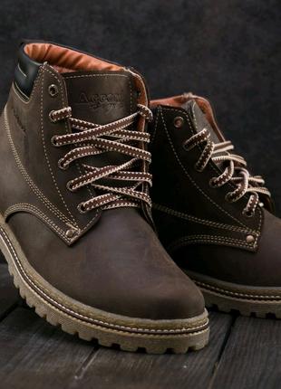 Ботинки Мужские Accord (Кожа, Зима)