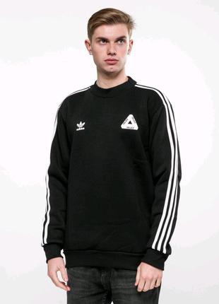 Свитшот утепленный Adidas - Palace Line, Black