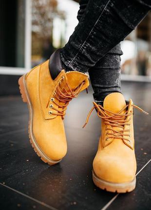 😎timberland ginger😎мужские зимние кожаные ботинки тимберленд с...