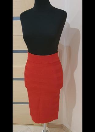 Karen miller, юбка, оранжевого цвета, размер 48