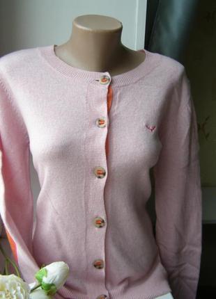 Sand pink кардиган 100% шерсть m-l-размер