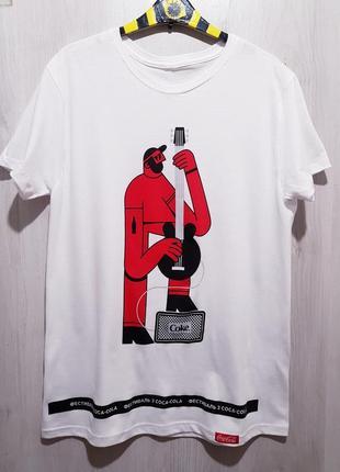 Футболка coca-cola limited edition  «гитарист»(guitar player)