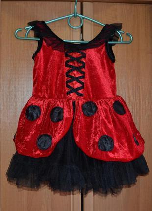 Карнавальный костюм божья коровка на 3-4 года
