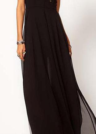 🔥🔥🔥новое черное длинное легкое женское платье, сарафан d&z fas...