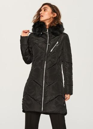 Новая женская тёплая куртка пальто с капюшоном reserved