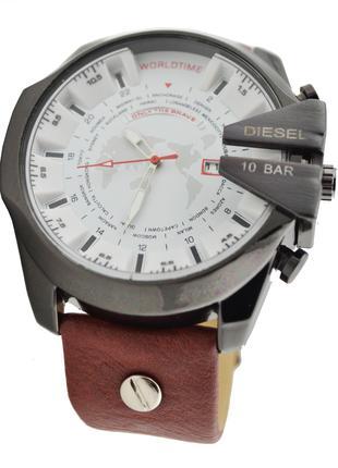 Мужские часы 10 Bar DZ-4188 коричнево-черный цвет Уценка (2611...