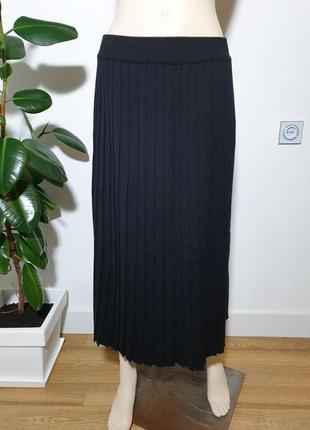 Полушерстяная плиссированная юбка италия benetton