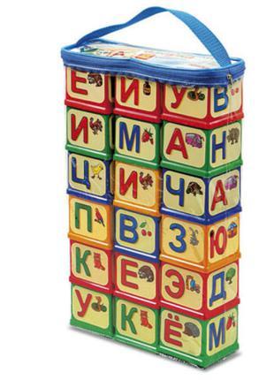 Кубики Азбука 18 шт Юника