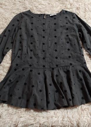 Блуза з рукавами кльош прошва
