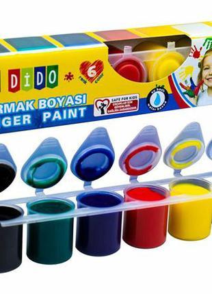 Пальчиковые краски My Dido 6 цветов SUDOR