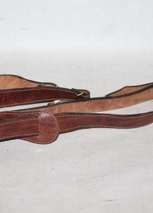 Кожаный плечевой ремень на сумку,портфель.длинная ручка на сумку