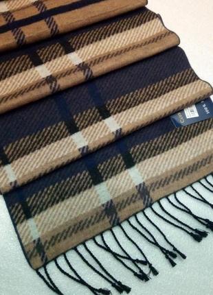 Невероятно мягкий теплый шелковый шарф мужской  из 100% шелка ...