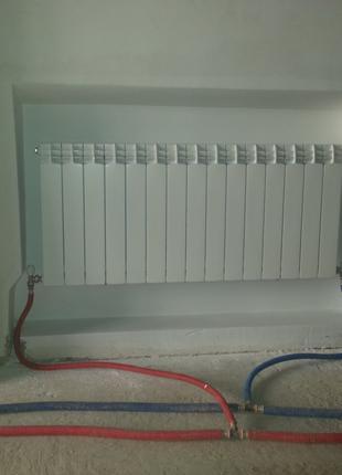 Установка и замена радиаторов, опрессовка труб
