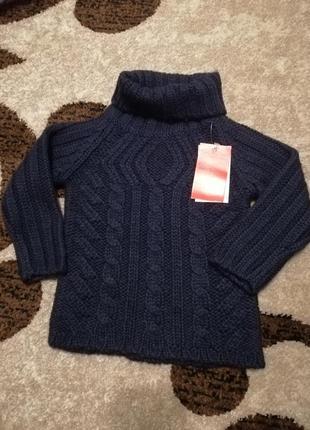 Уютный свитер глубокий цвет