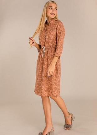 Цветочное платье из льна в ретро стиле