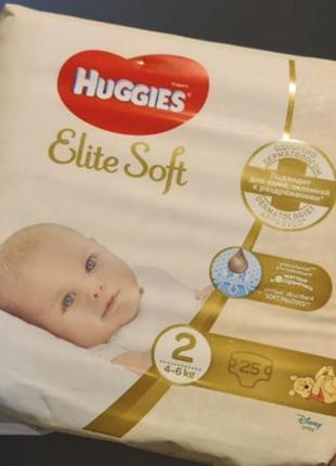 Памперсы подгузники huggies elite soft 2 размер