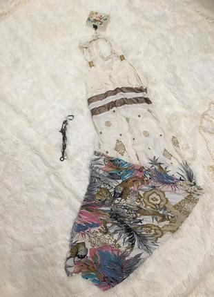 Летнее длинное платье сарафан в пол