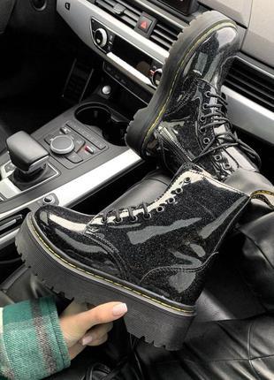 Женские зимние кожаные ботинки/ сапоги dr. martens jadon galax...