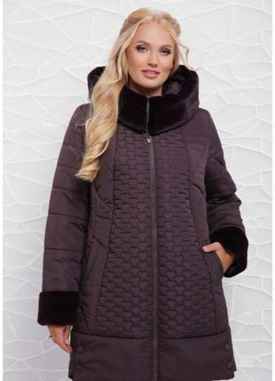 Красивая зимняя куртка женская в больших размерах